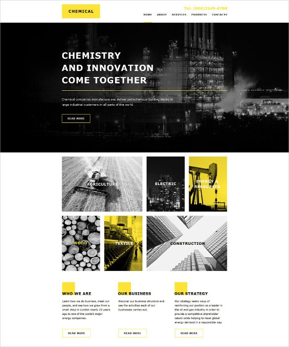 industrial corporate html 5 template