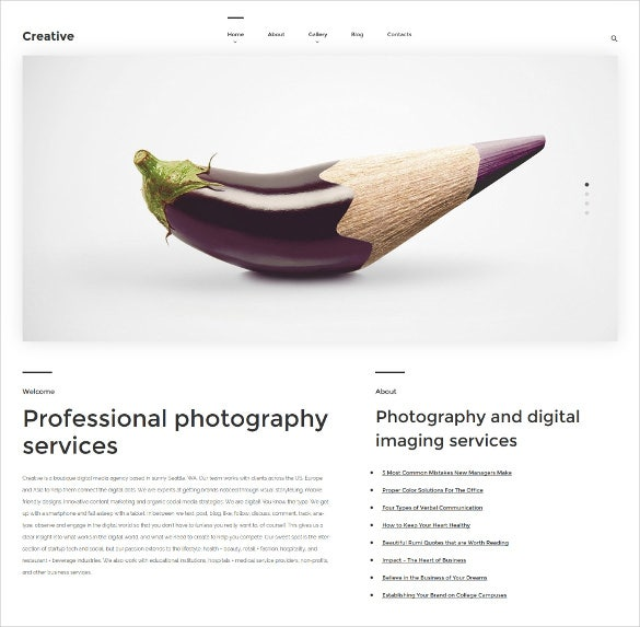 creative wordpress website theme