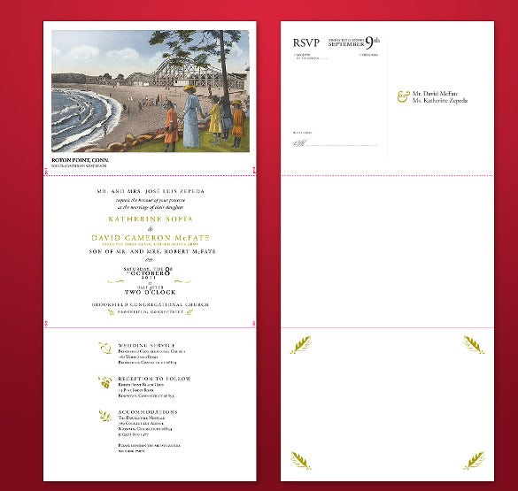 tri fold invitation template