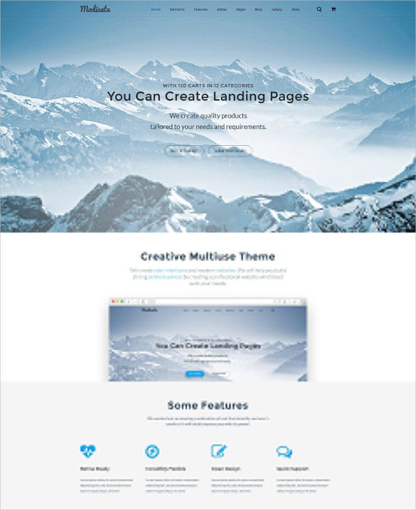 modicate corporate html 5 template