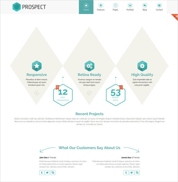 prospect creative html website template