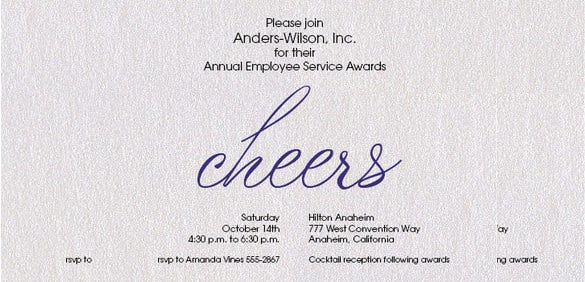 award navy cheers on shimmery white invitations