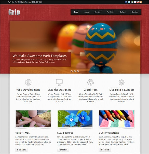 colourful corporate html 5 template