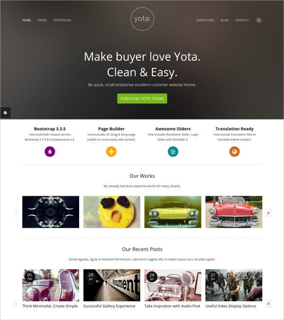 creative photography wordpress website theme