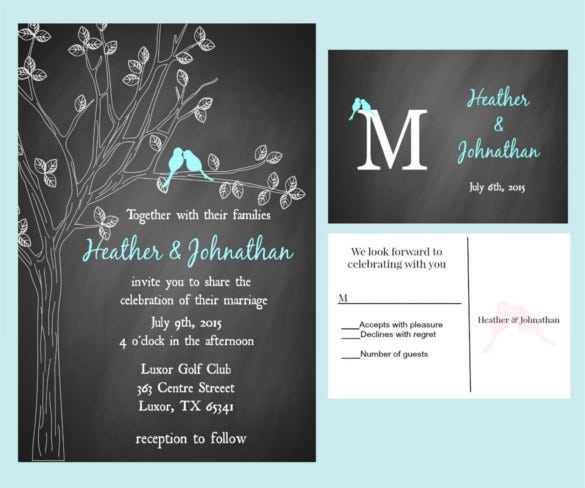 Chalkboard Wedding Invitation Templates Free Sample Example - Celebrate it invitation templates
