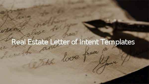 real estate letter of intent templates