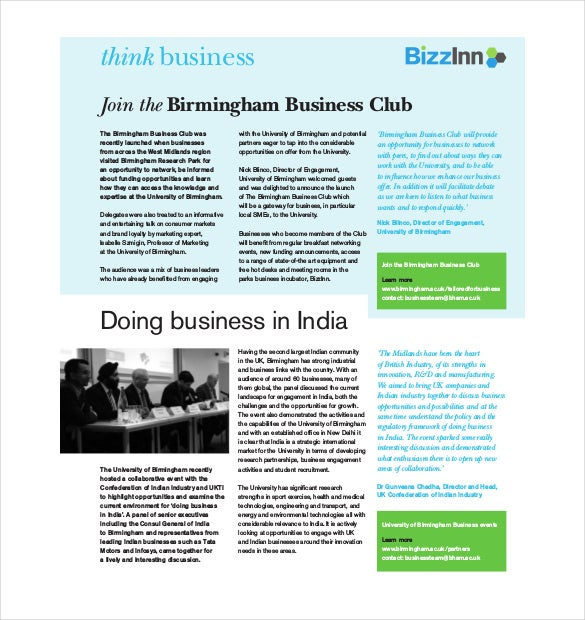 Business Newsletter Template 9 Free PSD EPS Indesign PDF – Business Newsletter