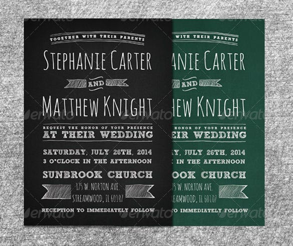 black bridal wedding invitation psd format template1