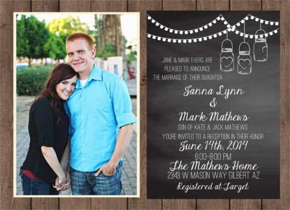 printable personalized chalkboard wedding invitation template