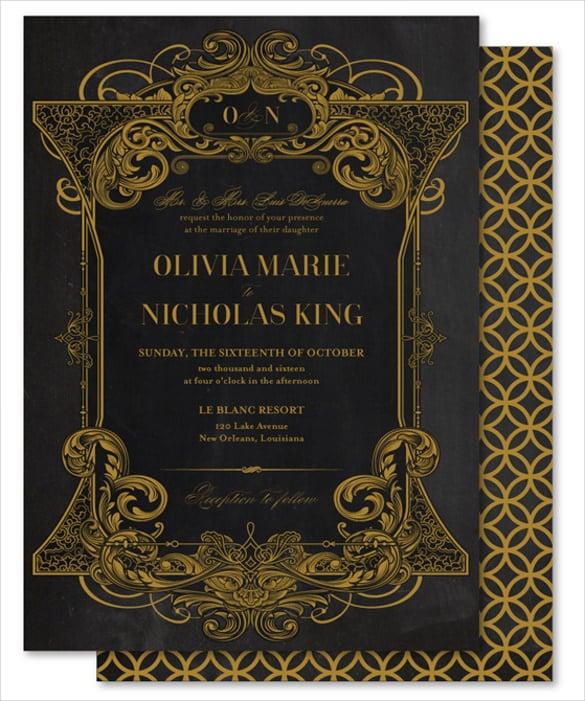 26 Chalkboard Wedding Invitation Templates Free Sample Example