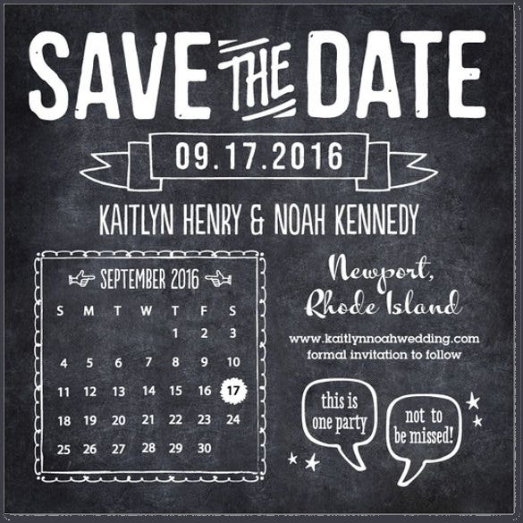 crafty chalkboard save the dates wedding invitation