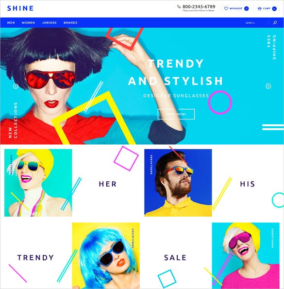 creative trendy sun glasses store opencart theme