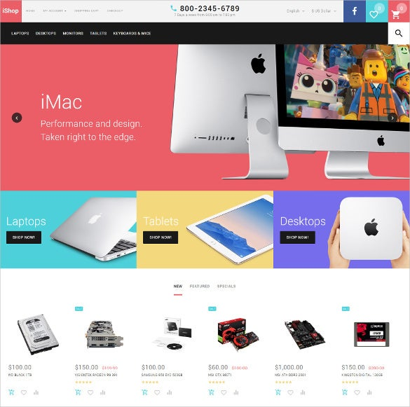 creative ishop opencart template