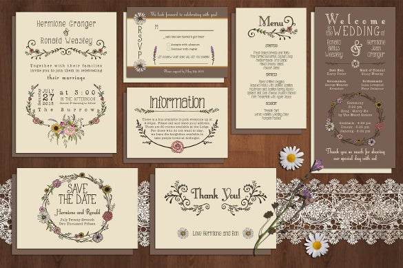best sunflower wedding invitation suit