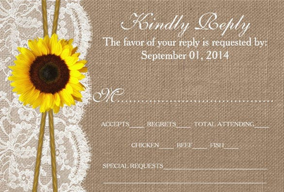 rustic suunflower collection invitation