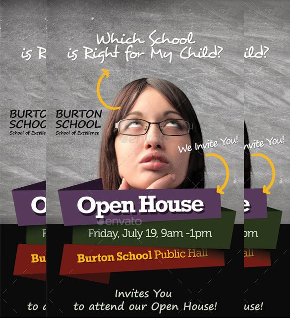 school templates open house roll up