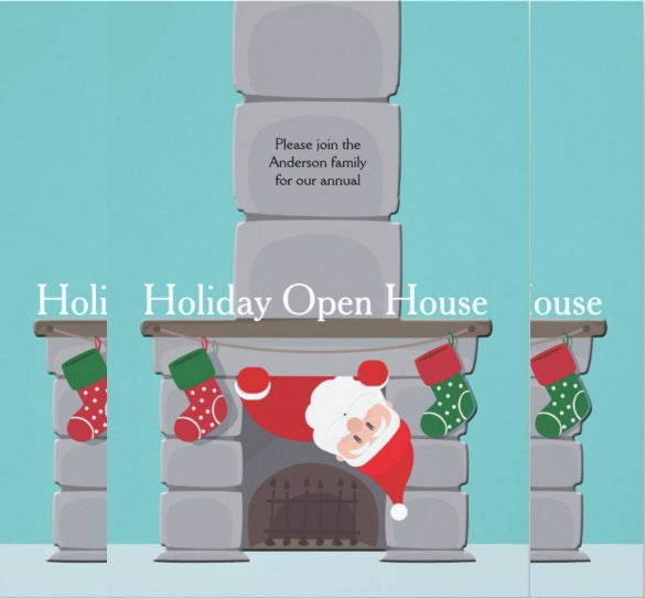 custom holiday open house invitation