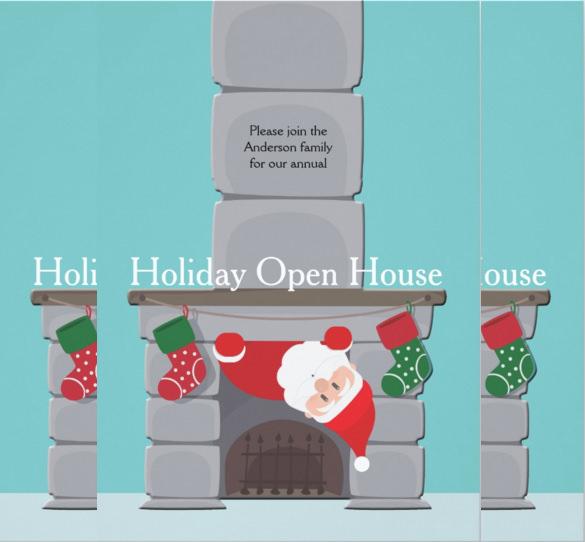 custom holiday open house invitation