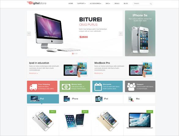 creative online digital shop opencart theme