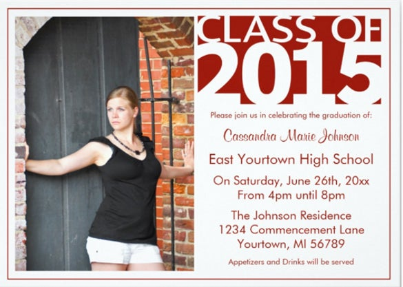 modern graduation open house invitation cards