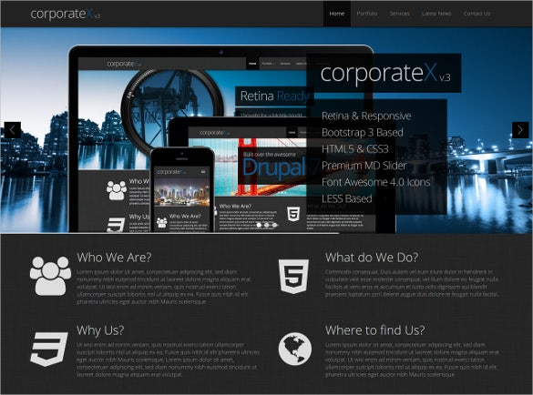 corporate business bootstrap template
