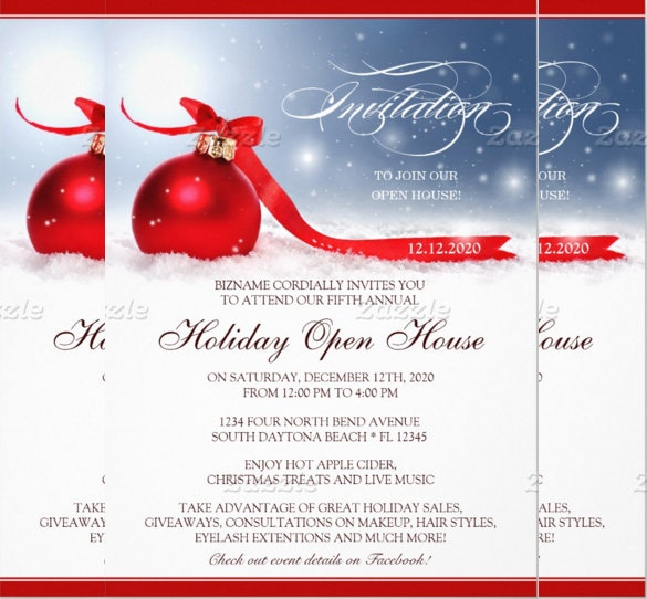 holiday open house invitations for business people