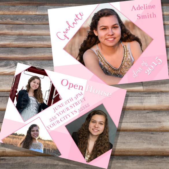 grad announcement open house high school senior