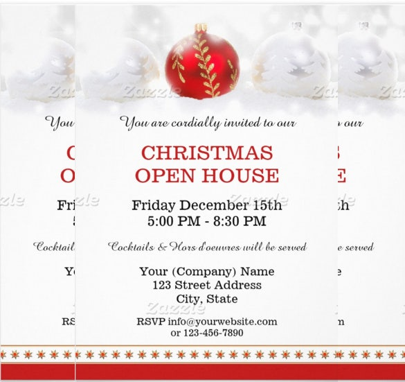 christmas open house party invitation company