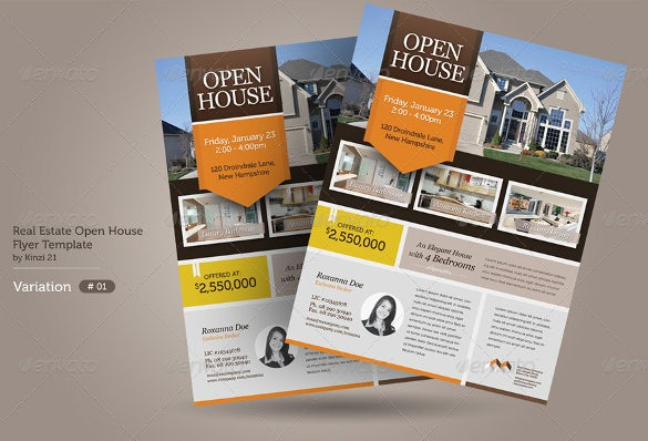 Real Estate Open House Flyer Template Download the Best Free Real – Real Estate Open House Flyer Template