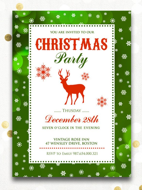 chirstmas holiday open house invitations