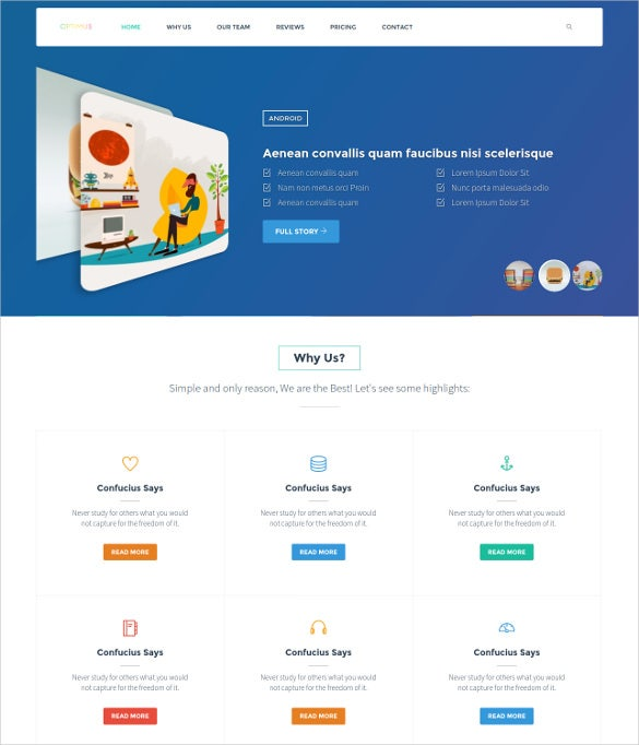 optimus corporate bootstrap template