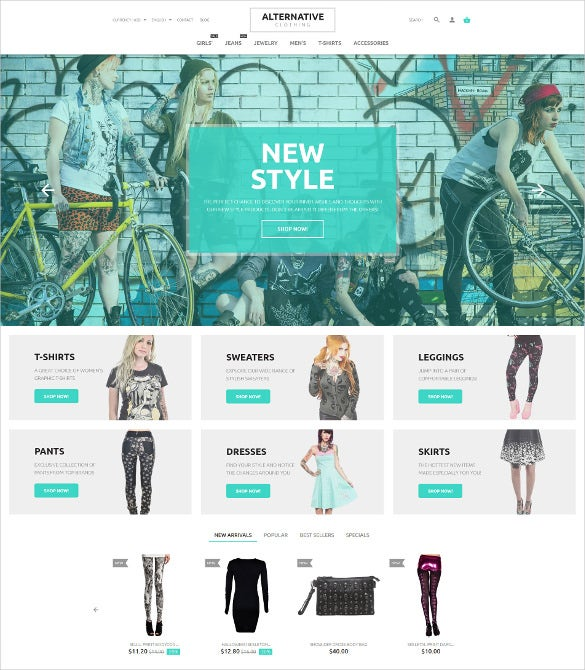 crreative street fashion prestashop template