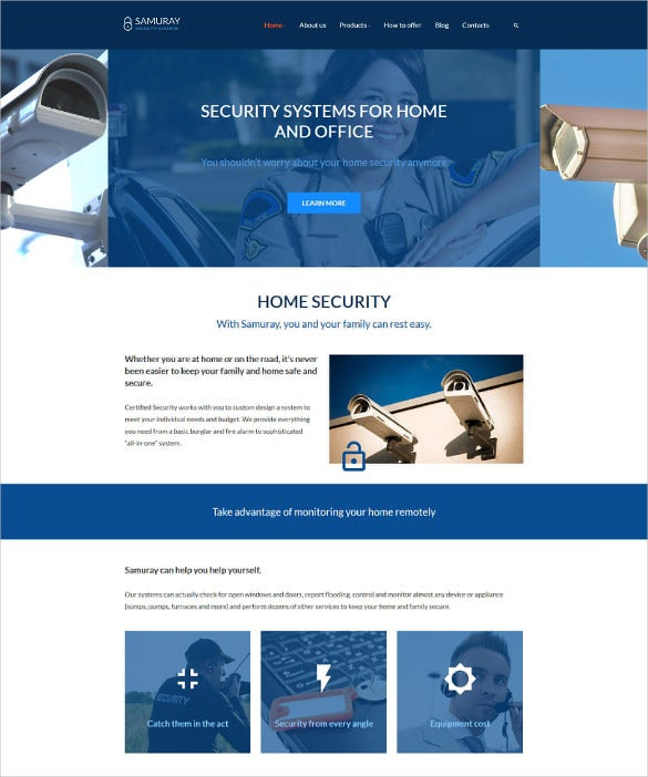corporate security bootstrap template