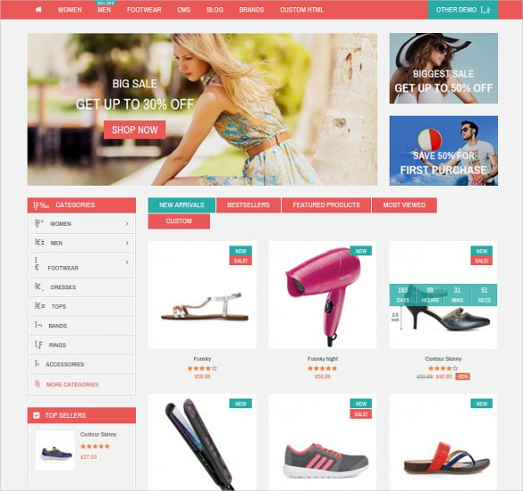 creative responsive cloth store prestashop template