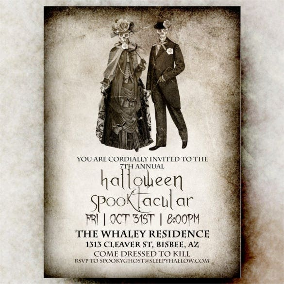 22 Halloween Wedding Invitation Templates Free Psd Ai