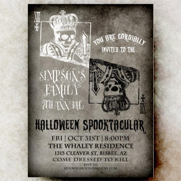 skull halloween invitation printable wedding template