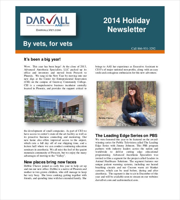 Holiday Newsletter Template  Free Sample Example Format