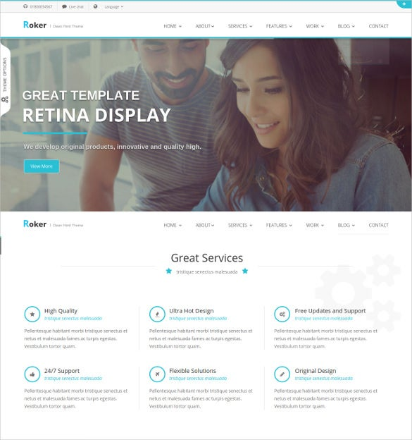software corporate bootstra template