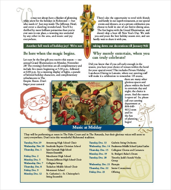 14  holiday newsletter template  u2013 free sample  example