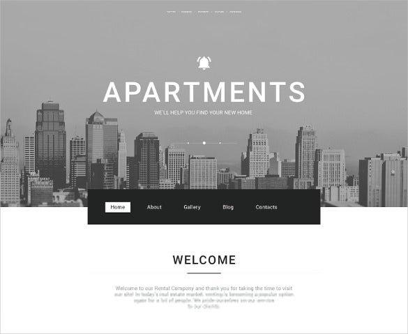 corporate real estate bootstrap template