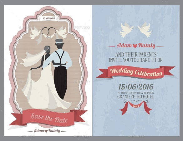 design wedding invitation card template