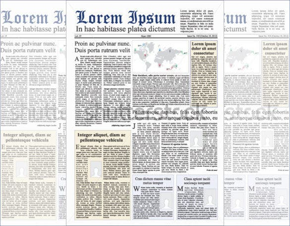 newspaper vector design download
