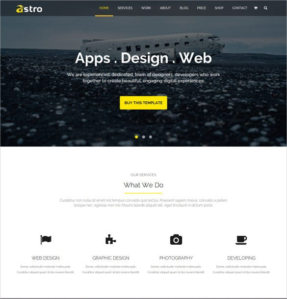 multipurpose business corporate bootstrap template