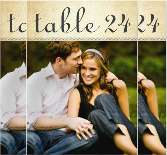 wedding photo table number 24 invitation
