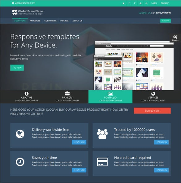 customised corporate bootstrap template