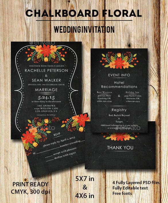 beautiful floral wedding invitation1