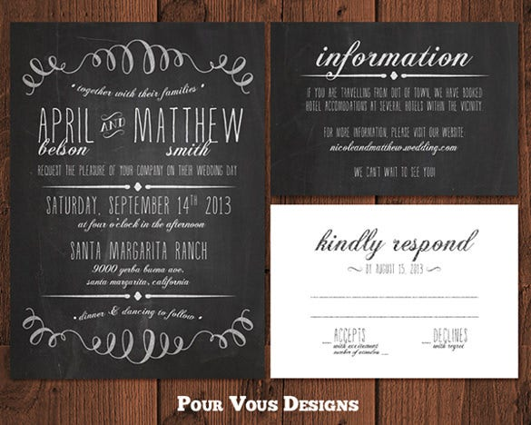 best chalkboard wedding invitation