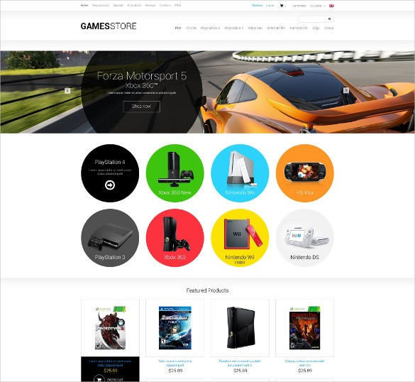 creative games zencart template