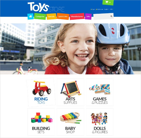 creative toys store zencart template