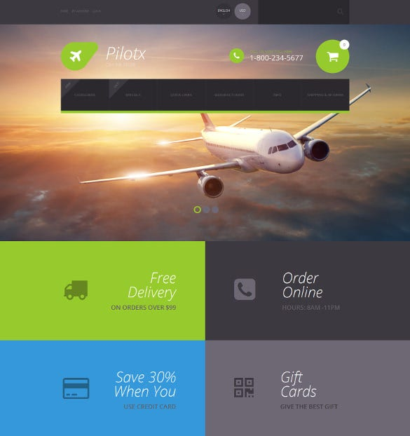 creative flight school zencart theme